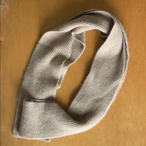 Accessories - Gold cashmere skinny scarf